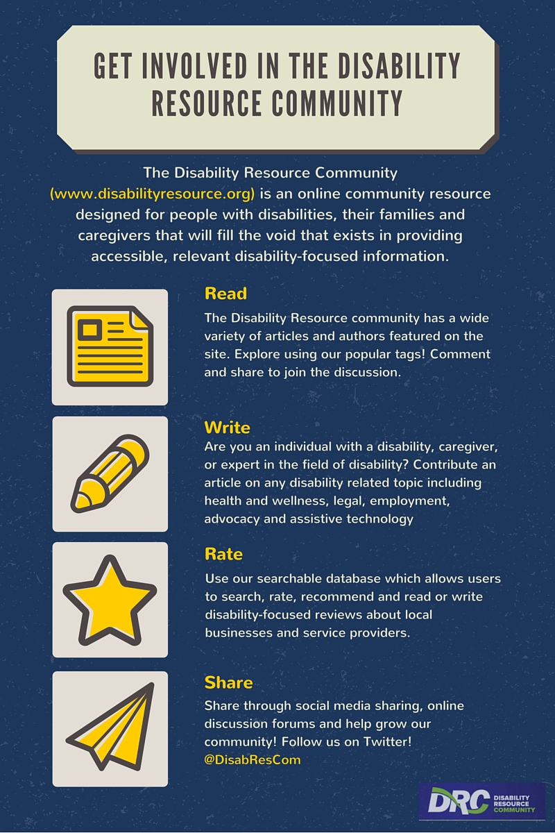 Get involved in the disability resource community