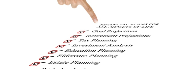 image of hand pointing at financial planning checklist